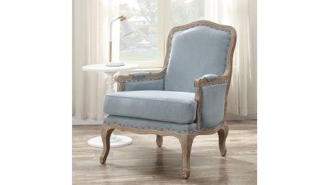 "Light Blue Bransford 24"" Armchair"