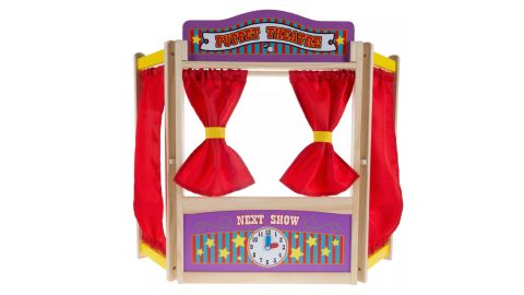 Hey! Play! Kids Wooden Tabletop Puppet Theater