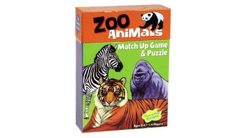 Peaceable Kingdom Zoo Animal Matching Game