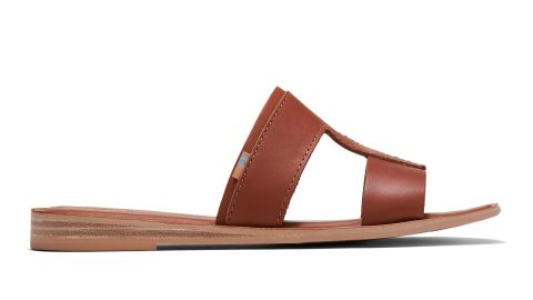 Toms Tan Vegetable Tanned Leather Women's Seacliff Sandals
