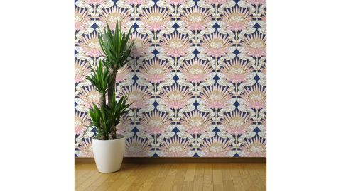 Newlin Floral Removable Peel and Stick Wallpaper Roll