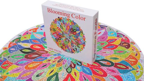 Bgraamiens Blooming Color 1,000 Piece Round Jigsaw Puzzle