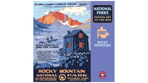 Rocky Mountain National Park Poster Art of The WPA 1000 Jigsaw Puzzle