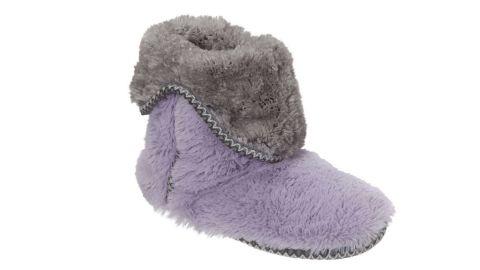 Dearfoams Faux-Fur Fold-Down Slipper Boots
