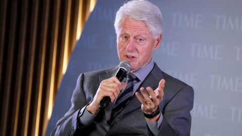 NEW YORK, NEW YORK - OCTOBER 17: Former U.S. President Bill Clinton speaks onstage during the TIME 100 Health Summit at Pier 17 on October 17, 2019 in New York City. (Photo by Brian Ach/Getty Images for TIME 100 Health Summit )