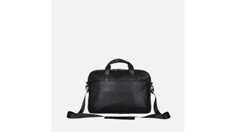 Modern Vegan Leather Ziptop Messenger Briefcase
