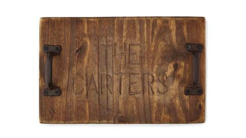 Personalized Rustic Serving Tray