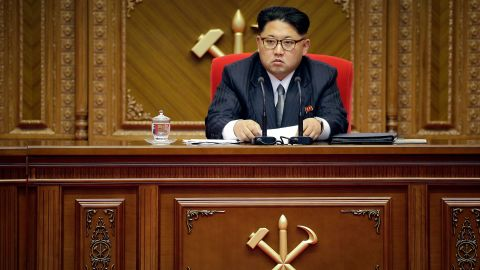 North Korean leader Kim Jong Un listens during the congress of the ruling Workers' Party in May 2016.