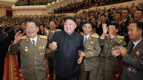 Kim attends an art performance in Pyongyang in September 2017. He said it was dedicated to nuclear scientists and technicians who worked on a hydrogen bomb, according to North Korea's state-run news agency. Kim claimed in 2015 that North Korea had added the hydrogen bomb to its nuclear arsenal. Outside observers were skeptical.