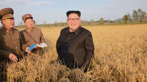 Kim visits a farm in this September 2017 photo released by the Korean Central News Agency.