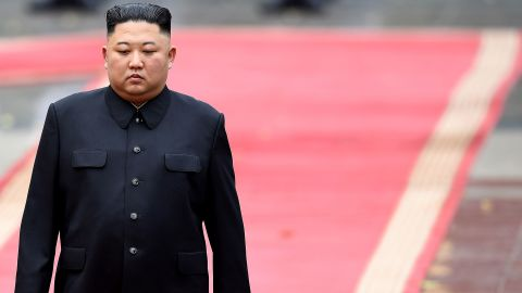 """Kim attends a welcoming ceremony after arriving at the Presidential Palace in Hanoi, Vietnam, in March 2019. A second summit between Trump and Kim <a href=""""https://www.cnn.com/2019/02/27/politics/gallery/trump-kim-summit-vietnam/index.html"""" target=""""_blank"""">ended abruptly in Vietnam</a> after the two leaders were unable to reach a joint agreement as they did in their first summit."""