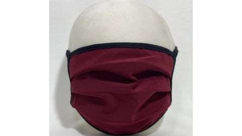 Burgundy Cotton Face Mask with Interchangeable Filter Pocket