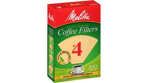 Melitta Natural Brown #4 Coffee Filter, 100ct