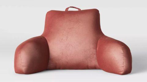 Opalhouse Velvet & Satin Bed Rest Pillow Blush