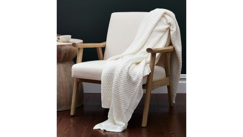 Boll and Branch Chunky Knit Throw Blanket