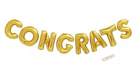 Congrats Foil Gold Balloon