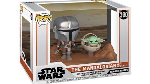 Pictured above is the Funko POP! The Mandalorian & The Child Moment.