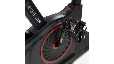 The Echelon bike's pedals
