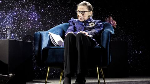 """In December 2019, <a href=""""https://www.cnn.com/2019/12/17/politics/ruth-bader-ginsburg-donald-trump-lawyer-trnd/index.html"""" target=""""_blank"""">Ginsburg was awarded the Berggruen Institute Prize for Philosophy and Culture.</a> She planned to donate the $1 million prize to a number of organizations that promote opportunities for women."""