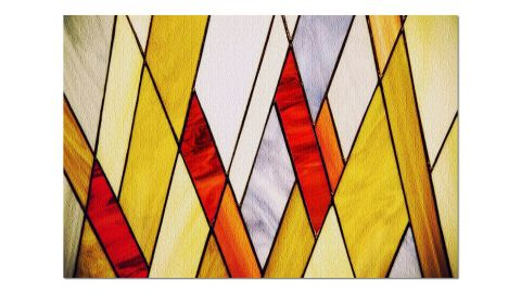 Geometric Colorful Stained Glass Puzzle