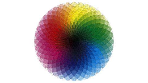 1,000 Pieces Round Color Rainbow Puzzle