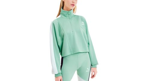 Tailored for Sport Women's Cropped Half Zip Jacket