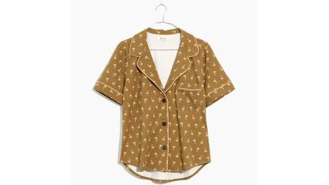 Knit Bedtime Pajama Top in Palm Print