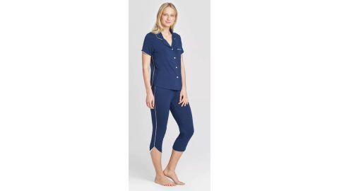 Women's Beautifully Soft Crop Pajama Set - Stars Above