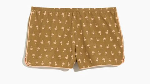 Knit Bedtime Pajama Shorts in Palm Print