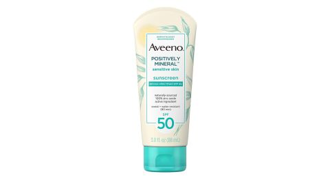 Aveeno Positively Mineral Sunscreen for Sensitive Skin SPF 50