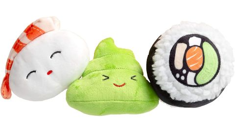 Pearhead Dog Toy Sushi Bento Box Toy