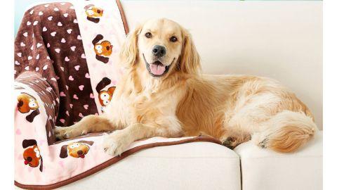 Smart Pet Love Heart Pattern Dog Blanket
