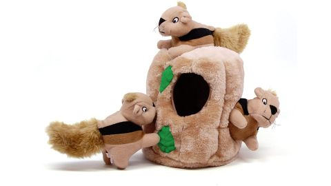 Outward Hound Hide-A-Squirrel Squeaky Puzzle Plush Dog Toy