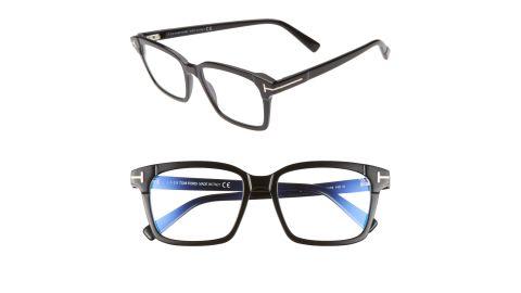54mm Blue-Light Blocking Square Optical Glasses