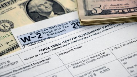 When tax time comes, you'll receive a 1099-G form listing the unemployment benefits that are paid to you.
