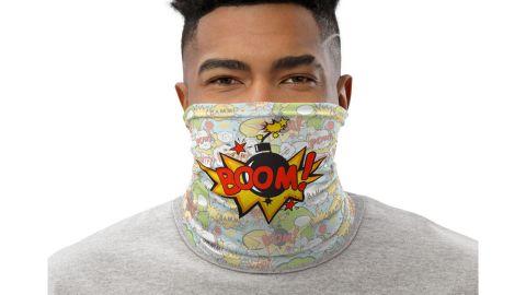 Pop Art Boom Face Covering