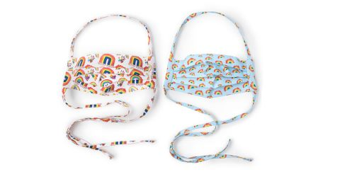 Uncommon Goods Set of 2 Rainbow Face Coverings