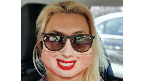 EvercoverHelmetCover Smiling Woman Face Mask