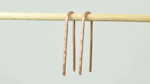 Copper Open Hoop Earrings