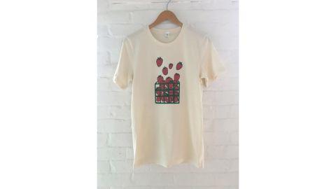 Strawberry Screenprinted Tee Shirt