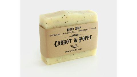 Carrot and Poppy Scrub Soap