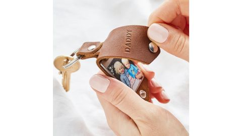 Personalized Photo Key Ring in Leather Case