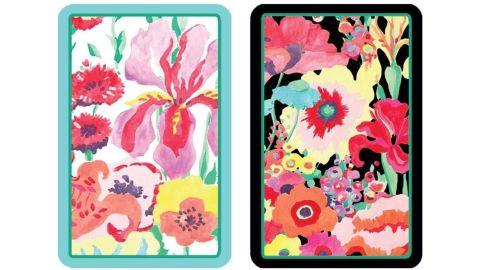Caspari Secret Garden Large Type Playing Cards, 2 Decks Included