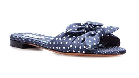 Tabitha Simmons Cleo Polka Flat Slip On Sandal