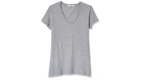 Adam Lippes Women's Short Sleeve V-Neck T-Shirt in Pima Cotton