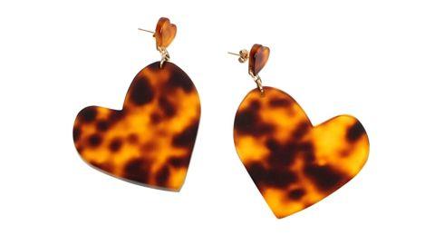 Edie Parker Heavy Heart Earrings