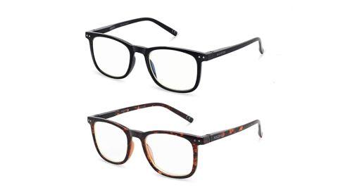 AOSM Blue Light Blocking Glasses, 2 Pack