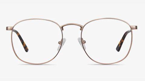 St Michel Square Rose Gold Eyeglasses