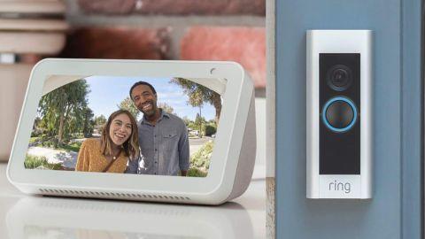 Refurbished Ring Video Doorbell Pro and Refurbished Echo Show 5 Bundle