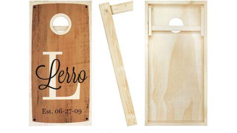 Rustic Personalized Cornhole Boards